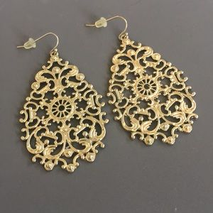 Drop Dangling Gold Earrings